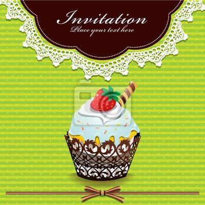 Plakat Śliczne cup cake V z koronką