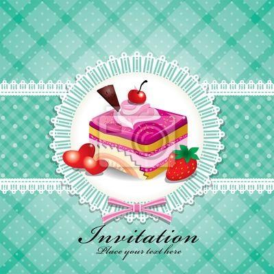 Plakat Śliczne cup cake W koronką