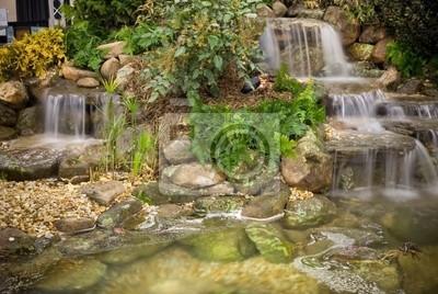 śliczne Małe Wodospady Ogrodowe Plakaty Redro