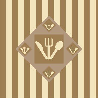 Plakat Śliczne tło restauracja