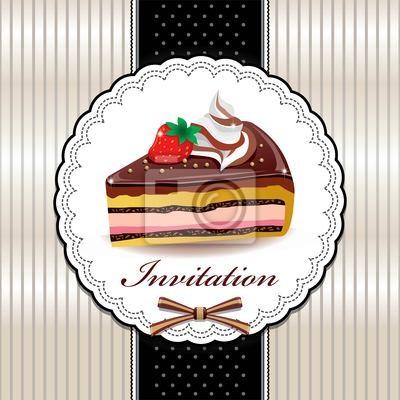 Plakat Słodkie cupcake z projektu zabytkowe