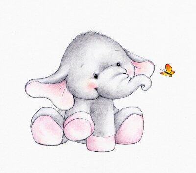 Plakat Słodkie słoń