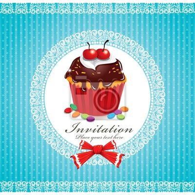 Słodkie szablon Cupcake