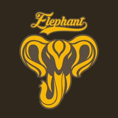 Plakat słoń wektor logo