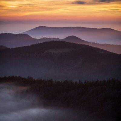 Plakat słońca w Schwarzwaldzie w Niemczech