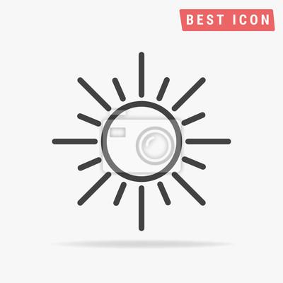 Plakat Słońce Ikona Wektor