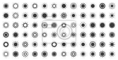 Plakat słońce promień światła, geometryczna ikona