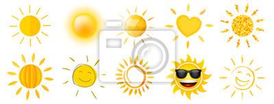 Plakat Słońce w różnych stylach