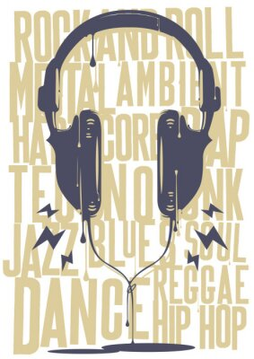 Plakat Słuchawki malowane