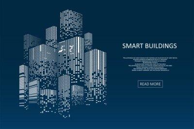Plakat Smart building concept design
