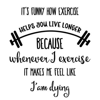 Plakat Śmieszne ręcznie rysowane cytat o siłowni