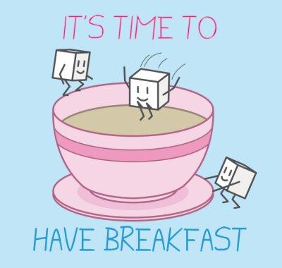 Plakat śniadanie