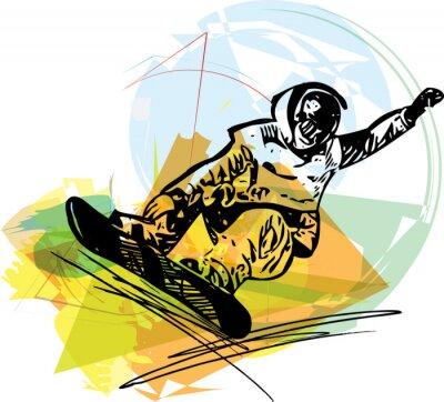 Plakat Snowboard Ilustracja