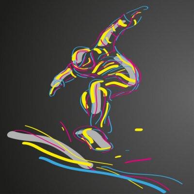 Plakat snowboard WEKTOR