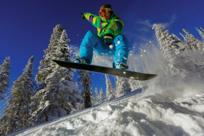 Plakat Snowboarder skoków