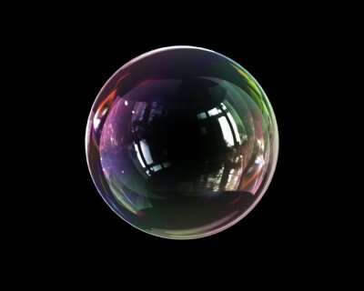 Plakat soap bubble lightness fragility