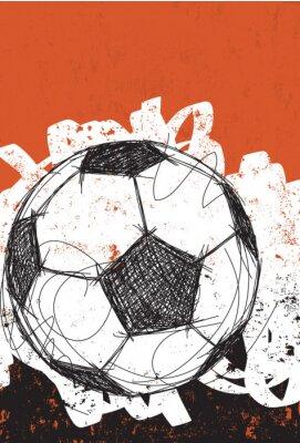 Plakat Soccer ball background