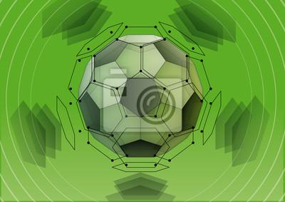 Plakat Soccer-ball. Transparent dwudziestościan ścięty