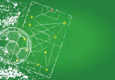 Plakat Soccer / Football design template,free copy space, vector
