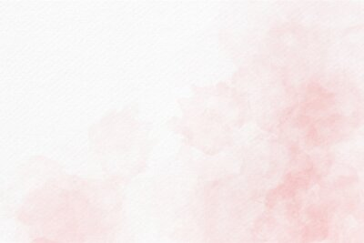 Plakat Soft pink watercolor abstract background