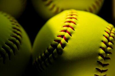 Plakat Softball Close up