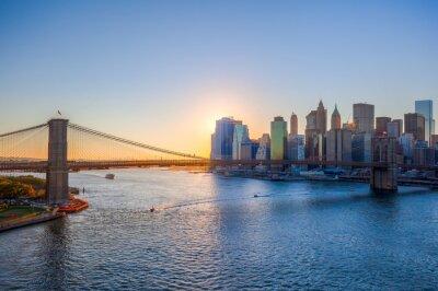 Plakat Sonnenuntergang na Manhattanie w Nowym Jorku