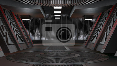 Plakat Space environment, ready for comp of your characters.3D rendering