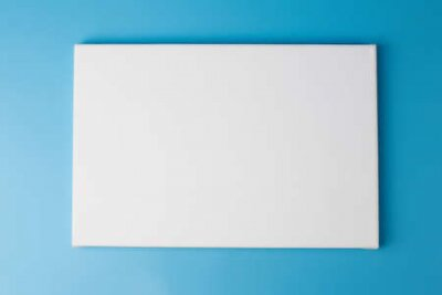 Plakat Space picture on white poster blue background