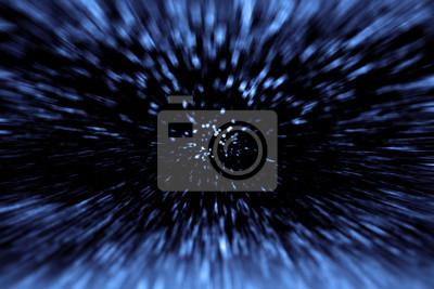 Plakat Space Wars podróże w czasie i Big Bang. Gwiazda Hyperspace Warp