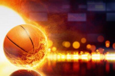 Plakat spalanie w koszykówkę
