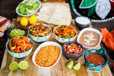 Plakat Spanish mexican food preperation
