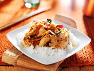 Plakat spicy thai panang chicken red curry