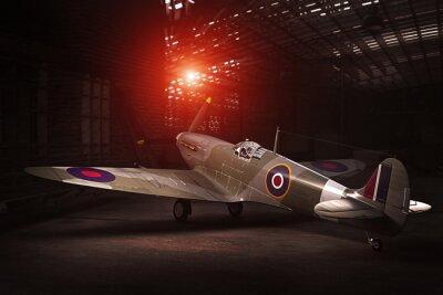 Plakat Spitfire Mk.V - Wzorowany w 3D