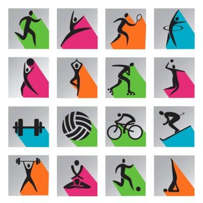 Plakat Sport kolorowych ikon