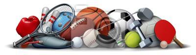 Plakat Sport Objects