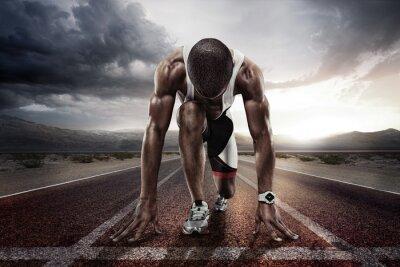 Plakat Sport. Początek biegacza.