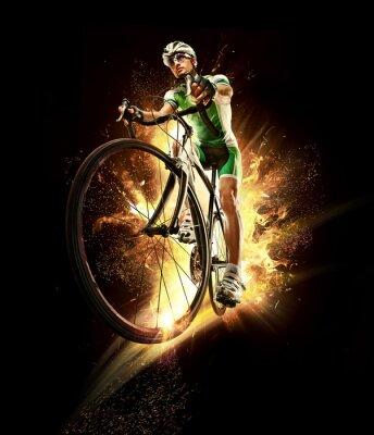 Plakat Sport. Rowerzysta izolowane