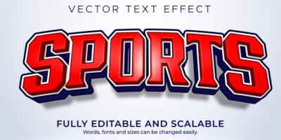 Plakat Sport text effect, editable basketball and football text style