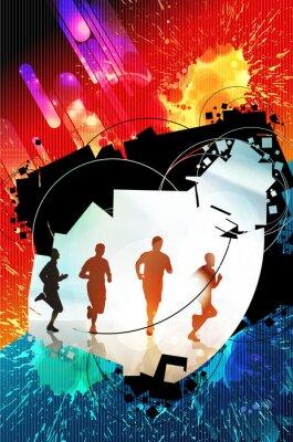 Plakat Sport tle plakatu