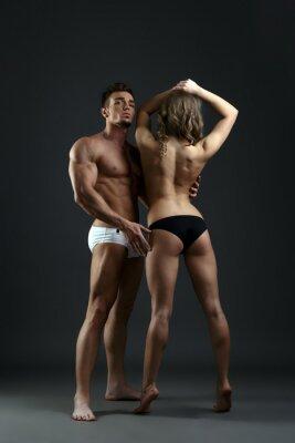Plakat Sportive modele bielizny seminude reklamy