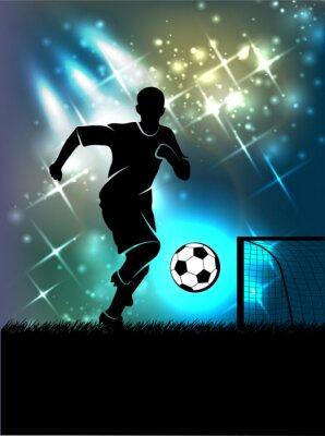 Plakat sportowe piłki nożnej tło tematu