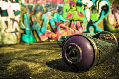 Plakat Spray Can Używane Dla Graffiti   Podstawowy obraz