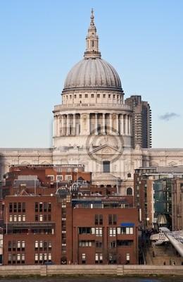 Plakat St Paul Cathedral w Londynie