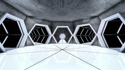 Plakat Stacja Kosmiczna korytarzu tunele
