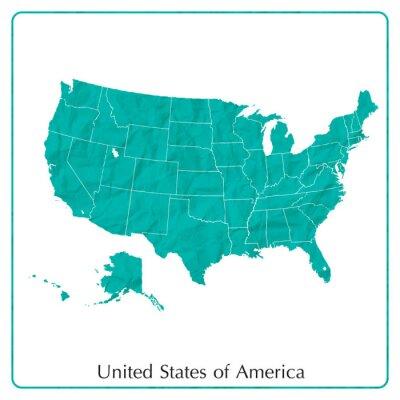 Plakat stany zjednoczone