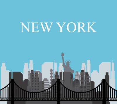 Plakat Stany Zjednoczone i Nowym Jorku projekt