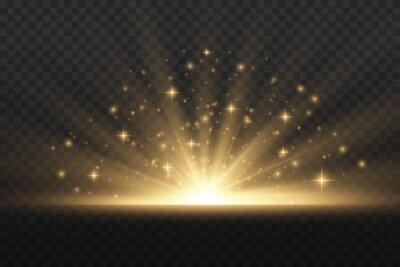 Plakat Star explosion, yellow glow lights sun rays.