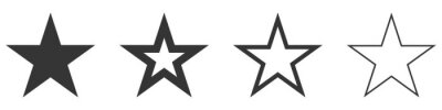 Plakat Star vector icons. Set of star symbols isolated.
