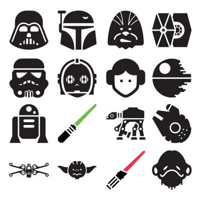 Plakat Star Wars icon set