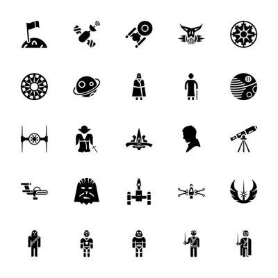 Plakat Star wars vector pack